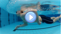 Pressure phase at swimming crawl