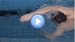 The right point to submerge your arm for crawl swimming