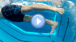 Foot position on the front crawl leg beat